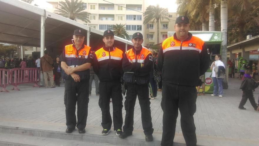 El equipo de Protección Civil en La Gomera