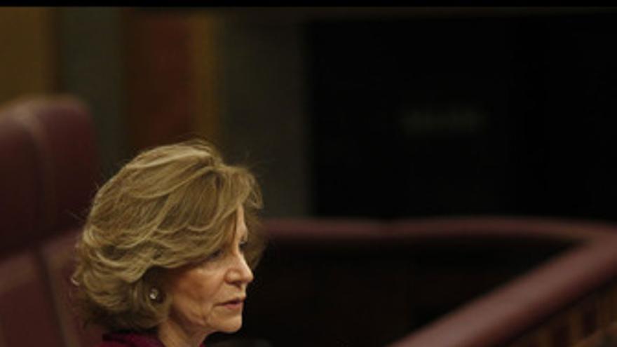 La vicepresidenta y ministra de Economía, Elena Salgado