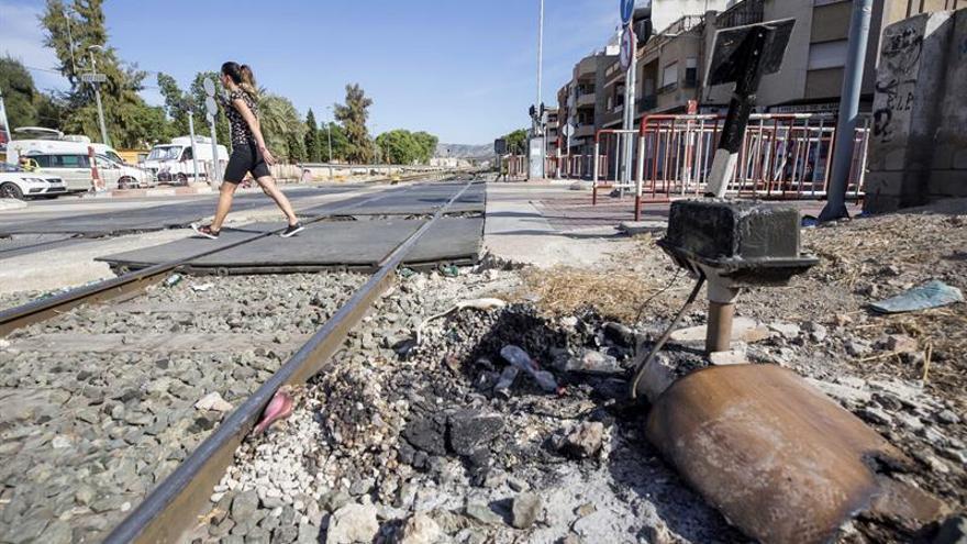 Cuarto día consecutivo sin circulación de trenes en entorno de Murcia capital