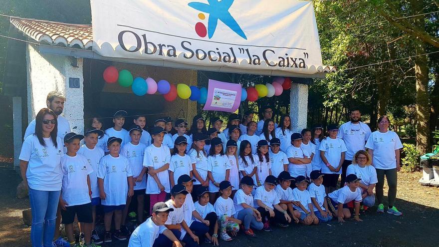 En el campamento participan un total de 43 menores de la comarca noreste de La Palma. Foto cedida por el Ayuntamiento de Barlovento.