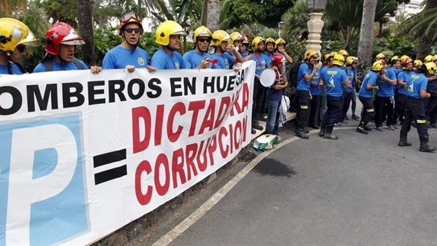 Protesta de Bomberos