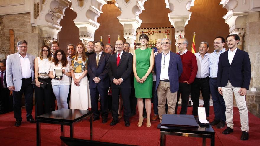 """La bilateralidad """"sin extravagancia"""", la igualdad y el Estatuto, prioridades para Lambán en el Día de Aragón"""