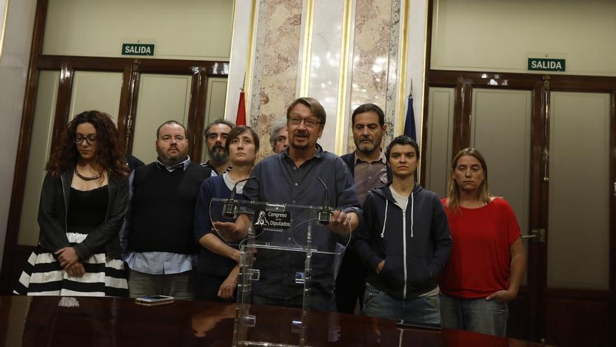 """Domènech (CatComú) llama a movilizarse en defensa de """"los derechos y la soberanía"""" catalana"""