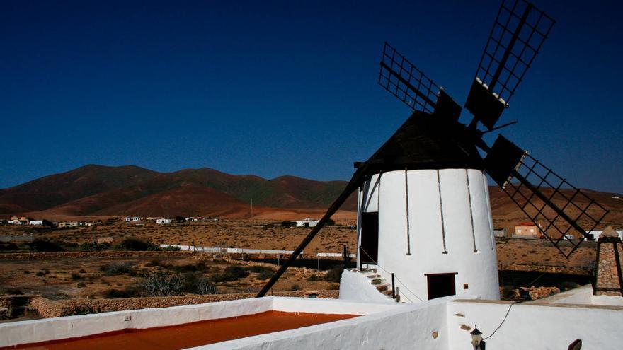 Molino de Tiscamanita, sede del Centro de Información de los Molinos de Fuerteventura.