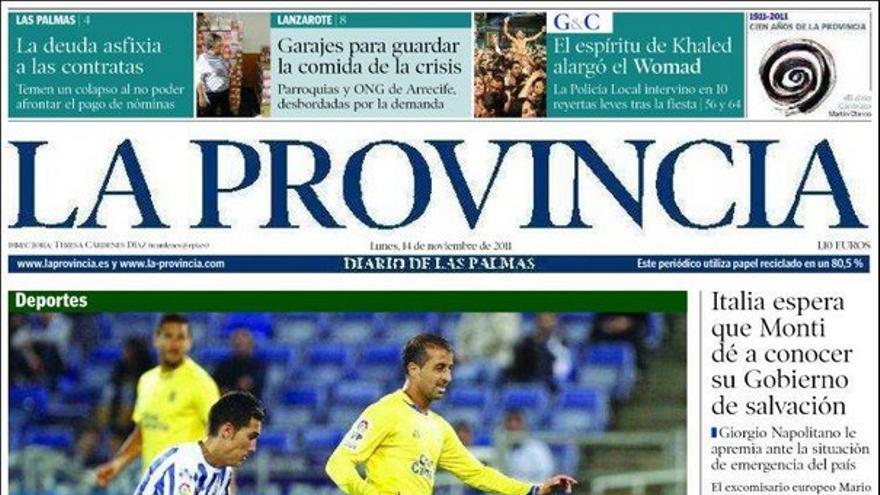 De las portadas del día (14/11/2011) #1