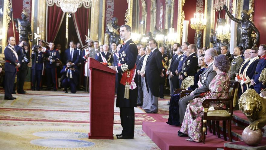 El rey FelipeVI en el discurso de la Pascua militar