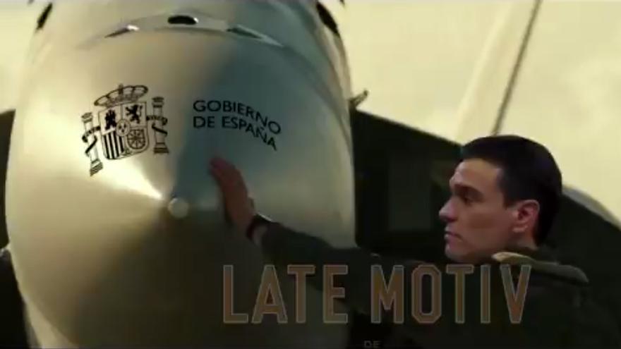 Pedro Sánchez en el vídeo montaje de 'Late Motiv'