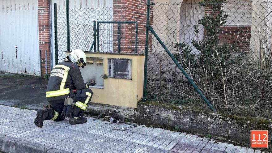 Fuga de gas en una urbanización deshabitada de Penagos tras el robo de la tubería