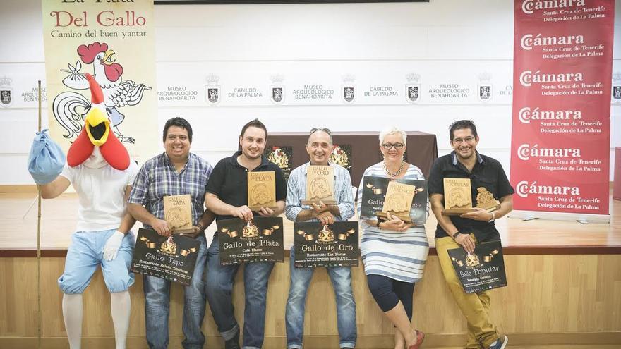 En la imagen, los ganadores de la X Ruta Gastronómica del Gallo.