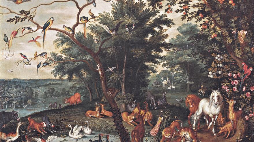 El paraíso en tierra, Jan Brueghel el joven (ca. 1620-1625) cortesía Arthemisia España