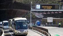Inauguración de la primera fase de la carretera de La Aldea