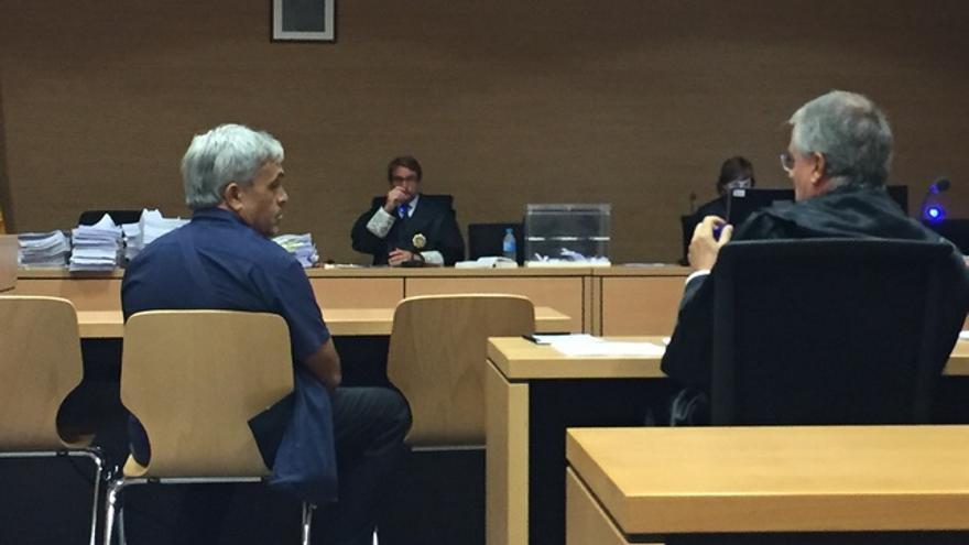 El particular Ignacio Jiménez durante la primera sesión del juicio por el incendio forestal en Gran Canaria en 2007