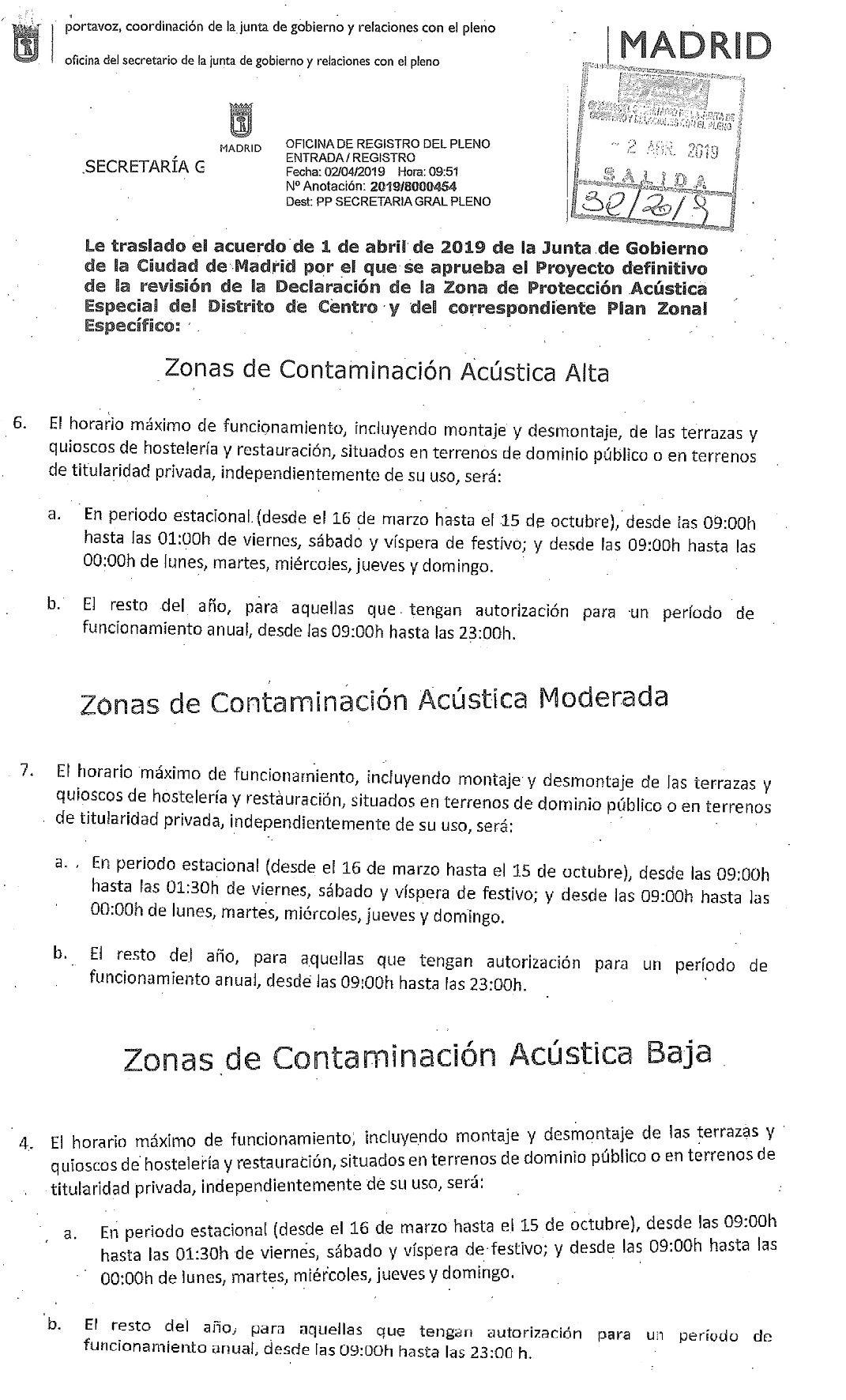 La Asociación Hostelería Madrid Recurre La Zpae De Centro