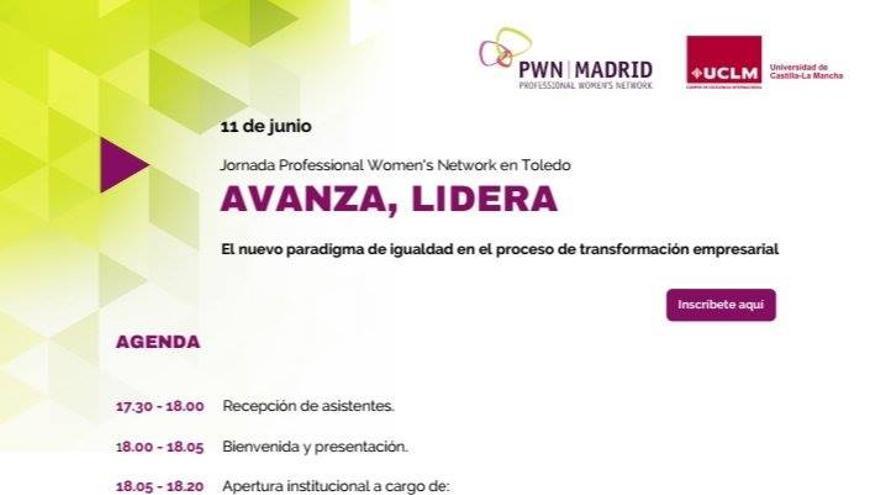"""Cartel jornada """"Avanza, Lidera: La transformación de las organizaciones hacia un nuevo paradigma de igualdad"""""""