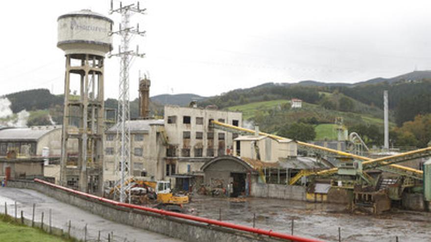 Vista de las instalaciones de la fábrica Pastguren en Zalla.