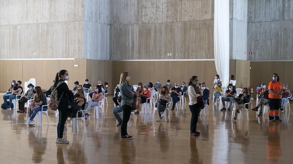 Vacunación masiva contra la COVID en el Palacio de Festivales.