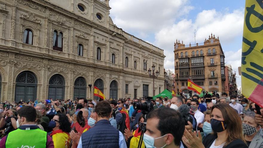 Acto en el que ha participado este domingo Olona en Sevilla.