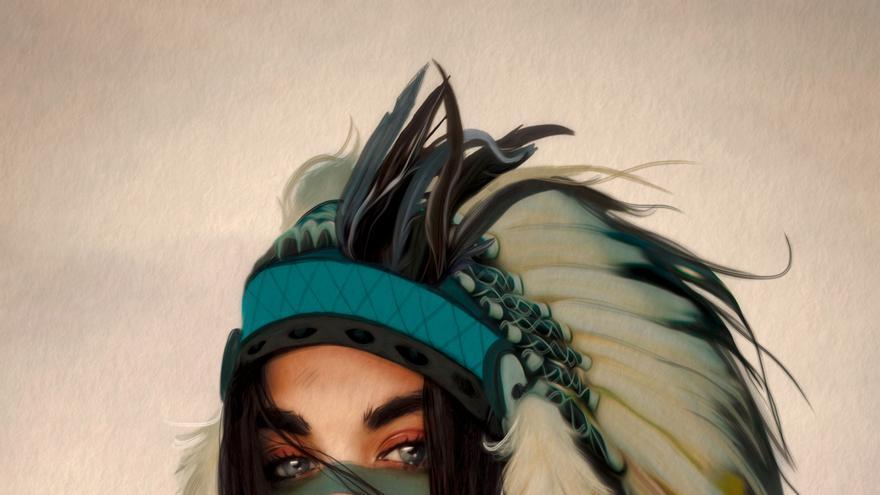 Tigridia, dibujada por el ilustrador Antonio Lorente