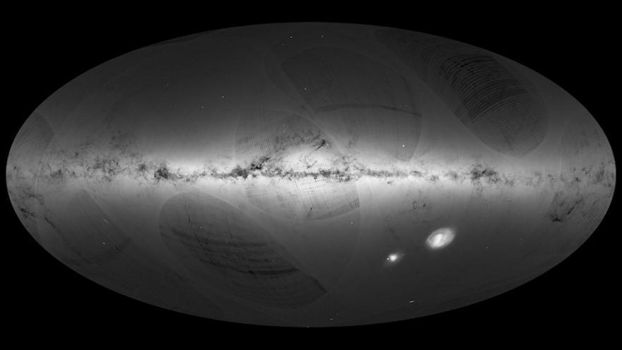 Imagen de la Vía Láctea obtenida por la sonda espacial Gaia