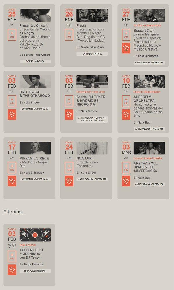 Programa del 8º Festival Madrid es Negro