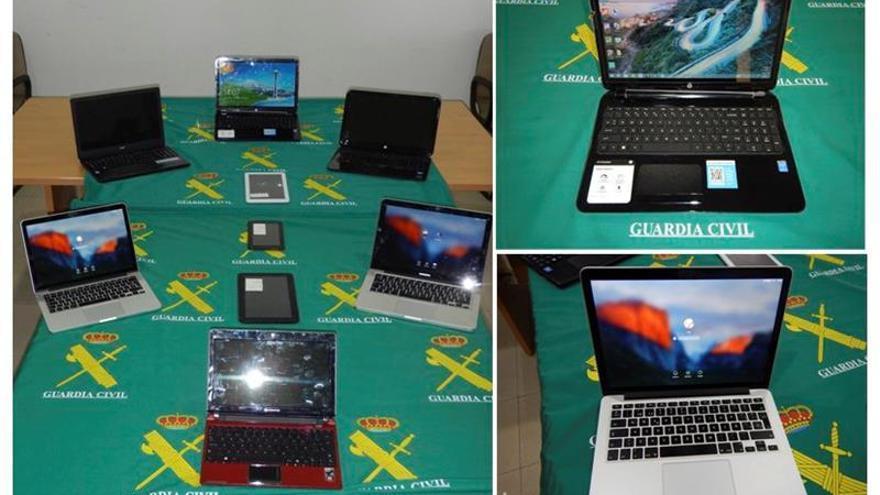 Recuperado en Melilla material informático de robos en viviendas de Murcia
