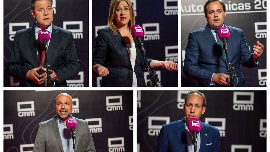 Los cinco candidatos a la Presidencia de Castilla-La Mancha en el #ElDebateCMM / Ismael Herrero