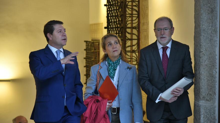 Emiliano García-Page con la Infanta Elena en Toledo / JCCM