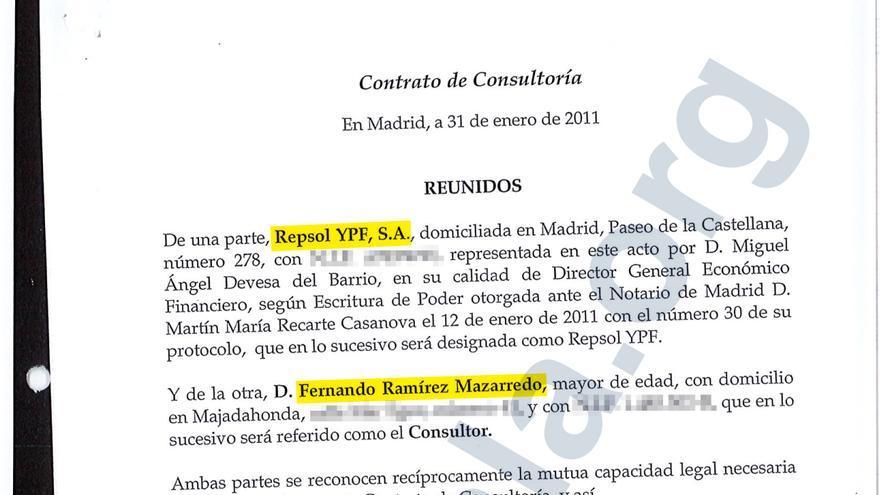 Contrato de consultoría entre Repsol y su ex director financiero.