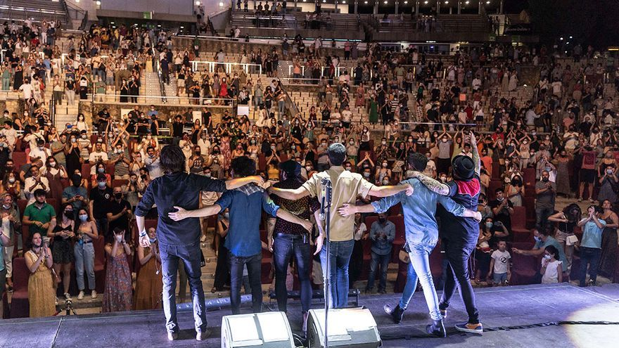 Concierto de Sidecars en la Axerquía dentro del 40ª Festival de la Guitarra