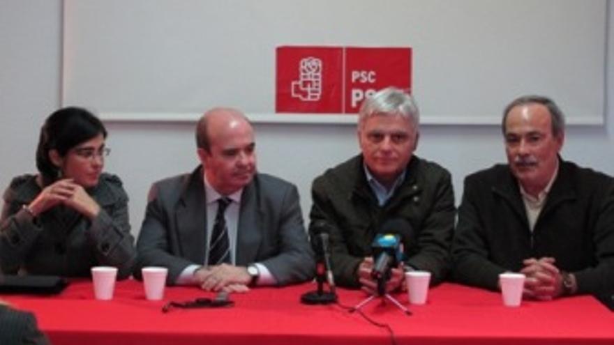 Carolina Darias, Gaspar Zarrías, José Miguel Pérez y José Alcaraz.