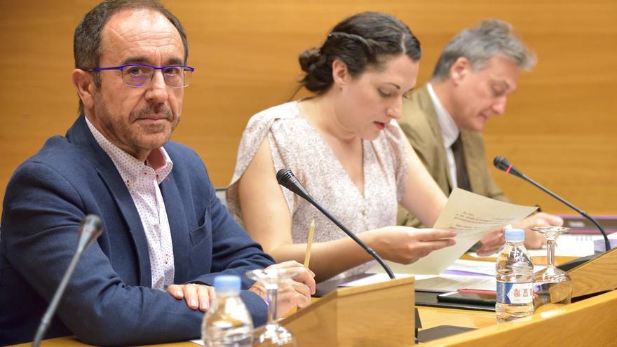 El exdiputado del PSPV y secretario de Justicia, Libertades y Nuevos Derechos, Andrés Perelló, en la comisión de investigación sobre Ciegsa