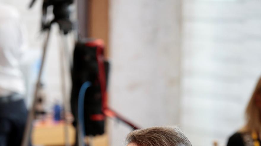 El presidente de Cantabria, Miguel Ángel Revilla, tras la celebración de la XXIV Conferencia de Presidentes en el Convento de San Esteban, a 30 de julio de 2021, en Salamanca, Castilla y León (España).