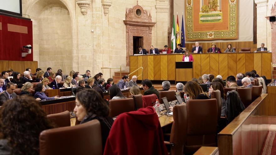 Pleno de debate general en el Parlamento de Andalucía.