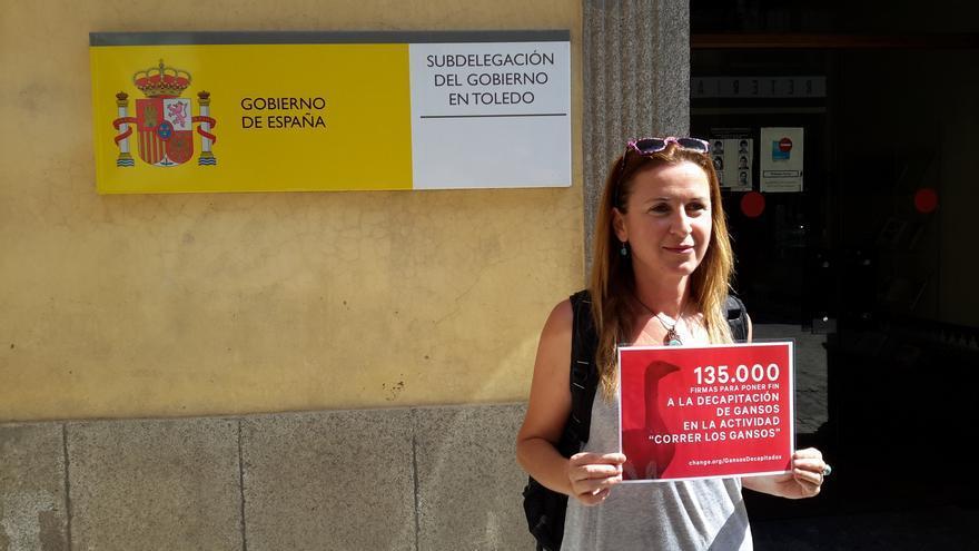 Carmen Córdoba, la promotora de la iniciativa contra 'Correr los gansos'