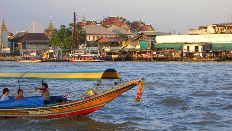 Construcciones tradicionales desde el Chao Phyara. Reinhard Link