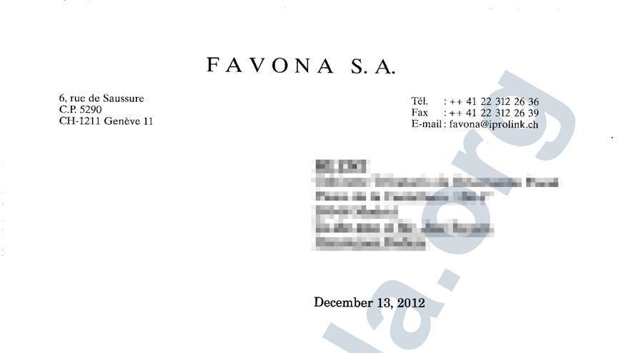 Sello de la sociedad Favona en la fundación Bamenda, utilizada por los Borbones para repartir una herencia