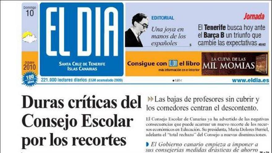 De las portadas del día (10/10/2010) #3