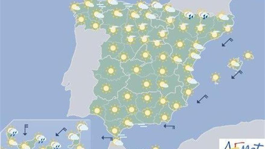 Hoy vuelve el calor al interior peninsular