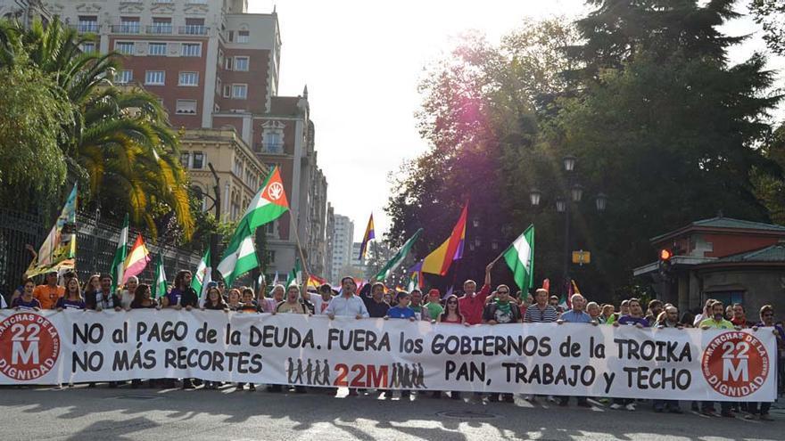 Cabecera de la manifestación. \ Ignacio Tudela