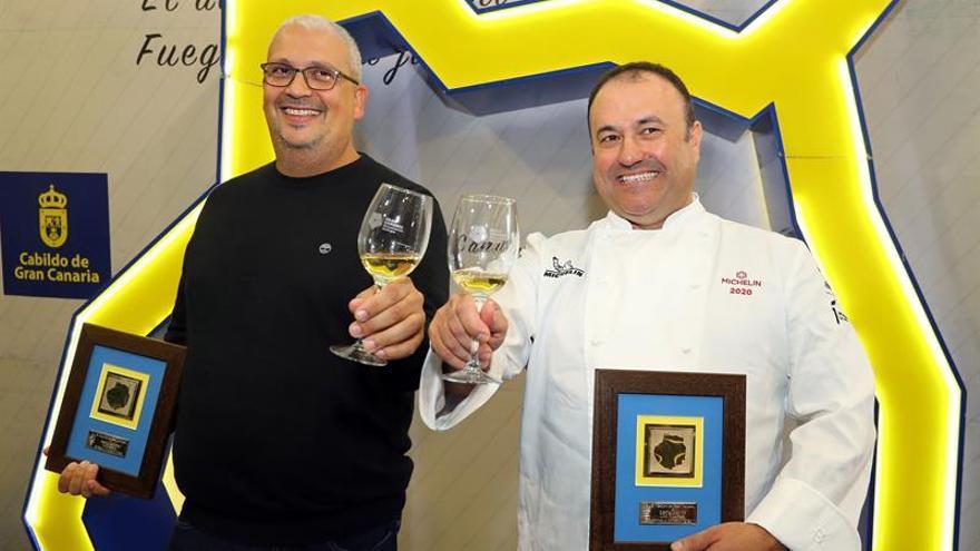 Los cocineros Germán Ortega y Alexis Álvarez, recientes ganadores de una estrella Michelin cada uno