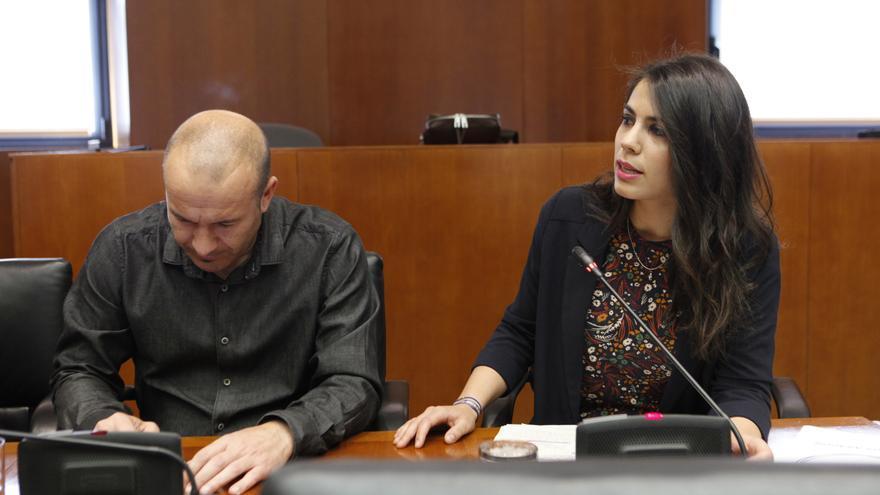 Carlos Gamarra e Itxaso Cabrera (Podemos).
