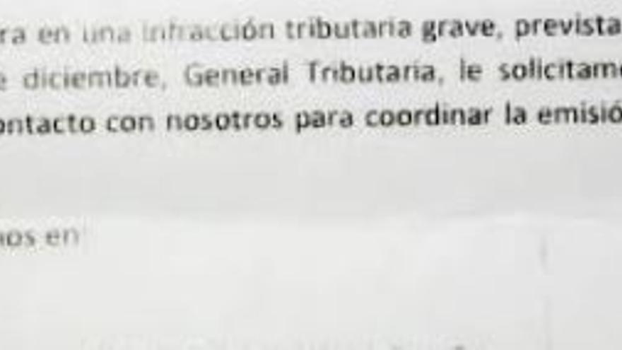 Fragmento de una carta enviada a un taxista
