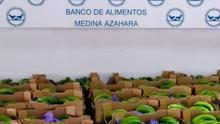 Plátanos de Canarias en el Banco de Alimentos de Medina Azahara.