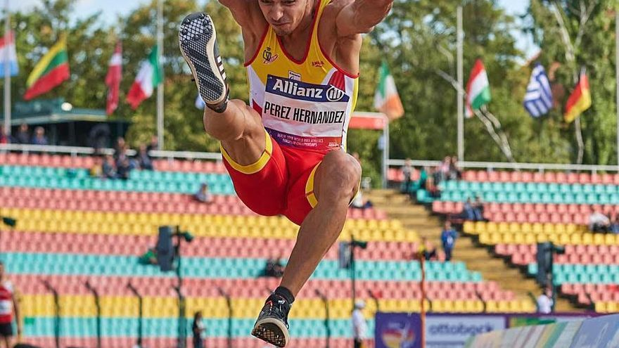 El atleta palmero Carlos Pérez.