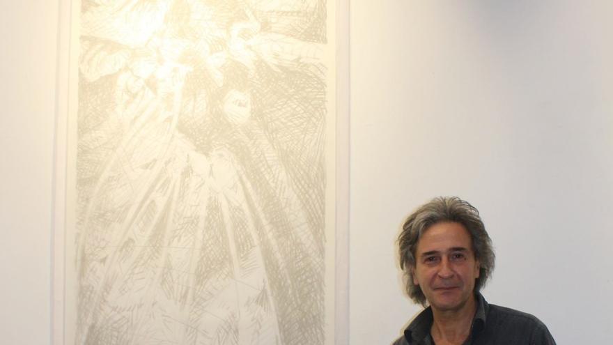 Retrato del artista Antonio Nigro, 'Rogani', que expone en Los Realejos