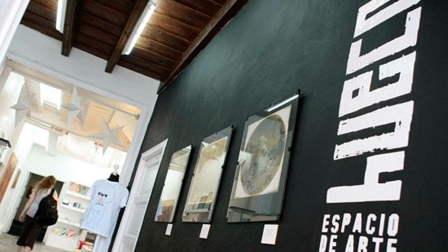 Entrada a la galería Hueco Arte de Santa Cruz de La Palma (Foto: Hueco Arte).