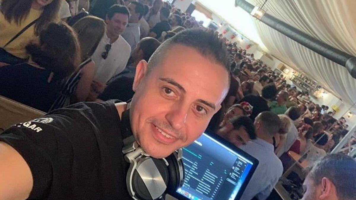 Imagen del DJ Rafa León en la Feria de Córdoba.