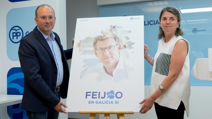"""'En Galicia sí', lema de campaña del PP para evidenciar que la comunidad es """"una excepción de estabilidad y rigor"""""""