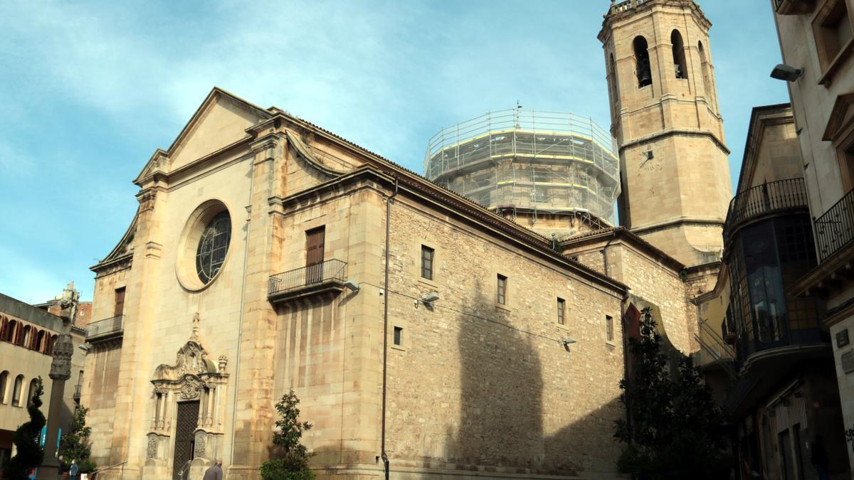 Plano general de la iglesia de Santa María del Alba de Tàrrega