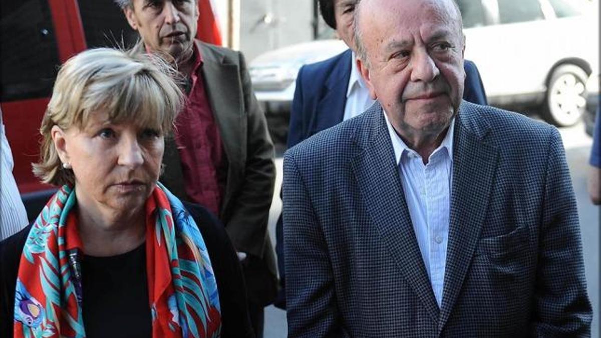 Osvaldo Mércuri, en una foto junto a su esposa, María Elena Torresi.